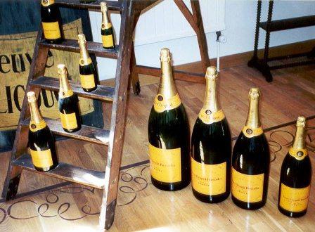 Veuve Clicquot wine bottle sizes