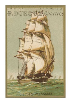 Three-Masted Merchant Ship