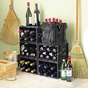 Store Wine in the Closet with the STORViNO Nero Wine Storage Container